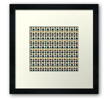 Just a bunch of cute australian animals - Australian animal design Framed Print