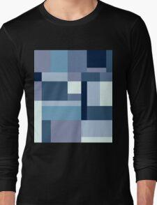 Abstract #387 Blue Harmony Long Sleeve T-Shirt