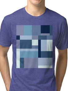 Abstract #387 Blue Harmony Tri-blend T-Shirt