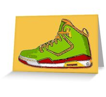 Boogie Basketball Shoes Greeting Card