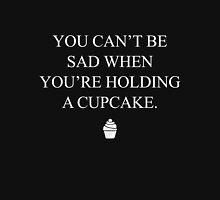 You can't be sad when you're holding a cupcake Women's Fitted Scoop T-Shirt