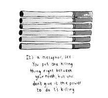 The Fault in Our Stars Cigarette Metaphor  by rbx11