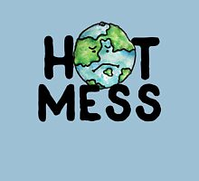 HOT MESS earth is sad Womens Fitted T-Shirt