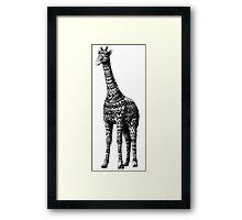 Ornate Giraffe Framed Print