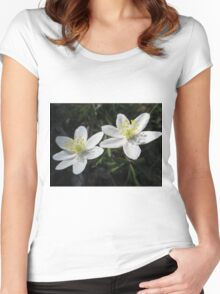 White Wood Anemones Women's Fitted Scoop T-Shirt