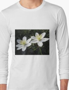 White Wood Anemones Long Sleeve T-Shirt