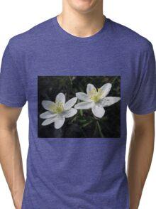White Wood Anemones Tri-blend T-Shirt