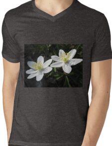 White Wood Anemones Mens V-Neck T-Shirt