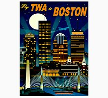 """""""TWA AIRLINES"""" Fly to Boston Advertising Print Unisex T-Shirt"""