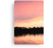 Pink Sunset Sky Canvas Print