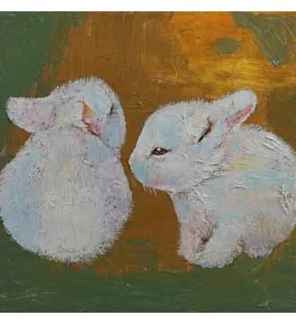 White Bunnies Sticker