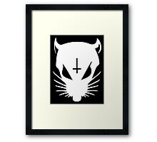 white ZEF Rat Framed Print