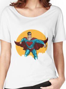 Standing Superhero Illustration Women's Relaxed Fit T-Shirt