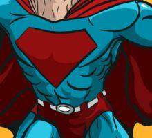 Standing Superhero Illustration Sticker