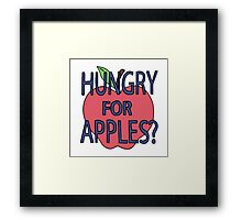 Hungry for Apples Framed Print