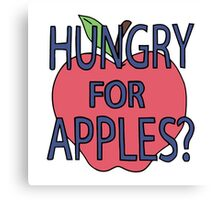 Hungry for Apples Canvas Print