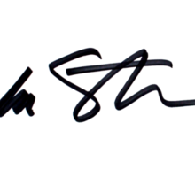 Barbra Streisand's Authentic Autograph Sticker