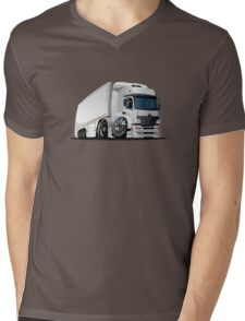 cartoon delivery / cargo semi-truck Mens V-Neck T-Shirt