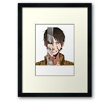 Past Eren's pain v2 Framed Print
