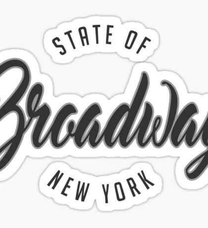 Broadway, New York Sticker