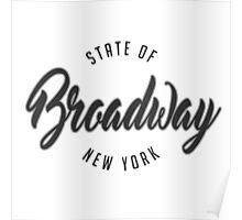 Broadway, New York Poster