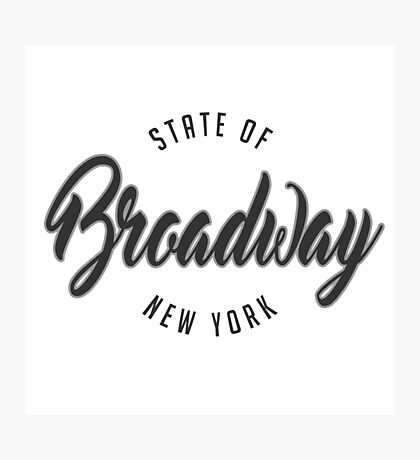 Broadway, New York Photographic Print