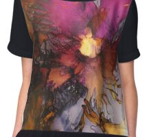 'Flora' and fauna  Chiffon Top