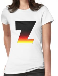 """""""Z"""" Letter Comic Book Style Womens Fitted T-Shirt"""