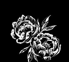 Black and White Peony  by Bailey  Watro