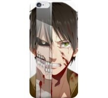 Past Eren's pain v2 iPhone Case/Skin