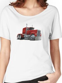 Cartoon Semi Truck Women's Relaxed Fit T-Shirt