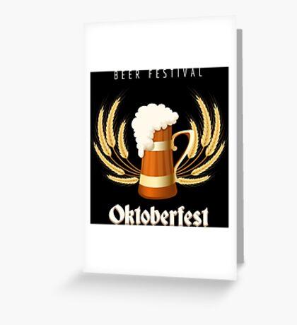 Beer Festival Emblem Greeting Card