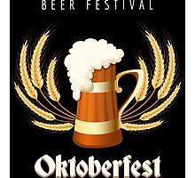 Beer Festival Emblem Photographic Print