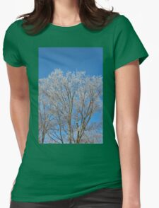 Shimmering Spring Crystals Womens Fitted T-Shirt