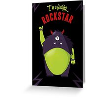 Monster Rockstar Greeting Card