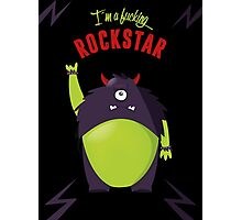 Monster Rockstar Photographic Print