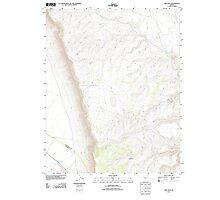 USGS TOPO Map Arizona AZ Red Mesa 20111103 TM Photographic Print