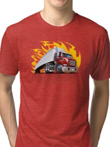 Cartoon Semi Truck Tri-blend T-Shirt