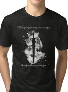 Artorias of the Abyss (White) Tri-blend T-Shirt