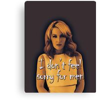 Gillian Anderson feels no sorry for men Canvas Print