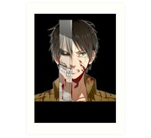Past Eren's pain Art Print