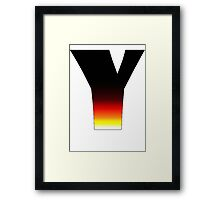 """""""Y"""" Letter Comic Book Style Framed Print"""