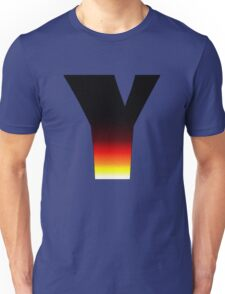 """Y"" Letter Comic Book Style Unisex T-Shirt"