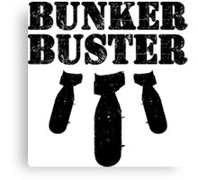 Bunker Buster Military Themed Design Canvas Print