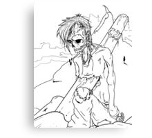 Zombie killed by Snowboard Canvas Print