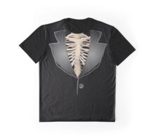 Gothic halloween rib cage human skeleton tuxedo Graphic T-Shirt