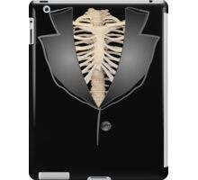 Gothic halloween rib cage human skeleton tuxedo iPad Case/Skin