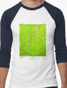 USGS TOPO Map Arizona AZ Heber 314670 1961 62500 Men's Baseball ¾ T-Shirt