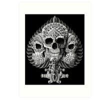 Skull Spade Art Print