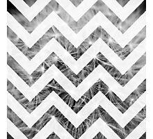 Grey Chevron Photographic Print